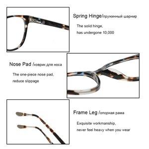 Image 5 - Glasses Round Acetate Glasses Myopia Eyeglasses Women Frame Clear Lens Frame Optical Demi Glasses Frames Women Circle Eyewear