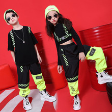 2020 Hip Hop Dance Costumes For Boys Girls Jazz Dance Tops Pants Kids Ballroom Dance Performance Clothes Hiphop Set Stage Outfit