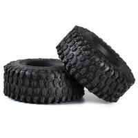 INJORA 4PCS 130*46MM 2.2 Rubber Terrain Tyre Wheel Tires for 1/10 RC Rock Crawler Axial SCX10 RR10 Wraith KM5 4