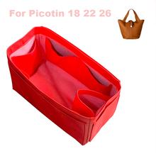 Fits H,S Picotin18 22 26 Handmade Genuine Leather Organizer bag Purse Insert Tote Bag in Cosmetic Diaper Handbag