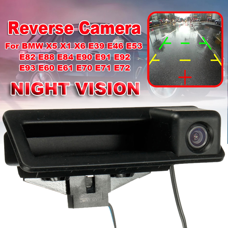 Auto Car Rear View Camera Reverse Parking HD CCD For BMW X5 X1 X6 E39 E46 E53 E82 E88 E84 E90 E91 E92 E93 E60 E61 E70 E71 E72 image