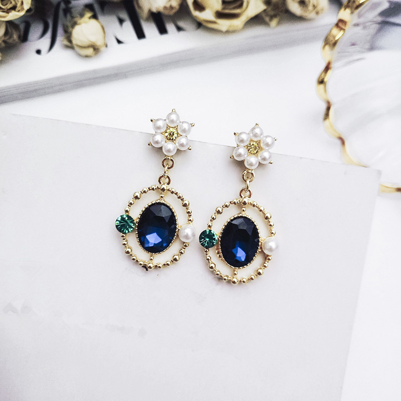 H4632e33954d84e4fac85613b1f8f05d8Y - New Arrival Metal Classic Round Women Dangle Earrings Korean Fashion Circle Geometric Earrings Sweet Small Jewelry