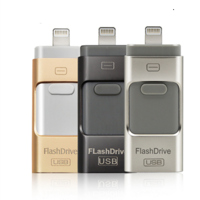 USB Flash Drive For Iphone 7plus Apple Pen Drive 16g 32g 64g 128g Android OTG Pendrive For Android U Disk 3 In1 Memory Stick