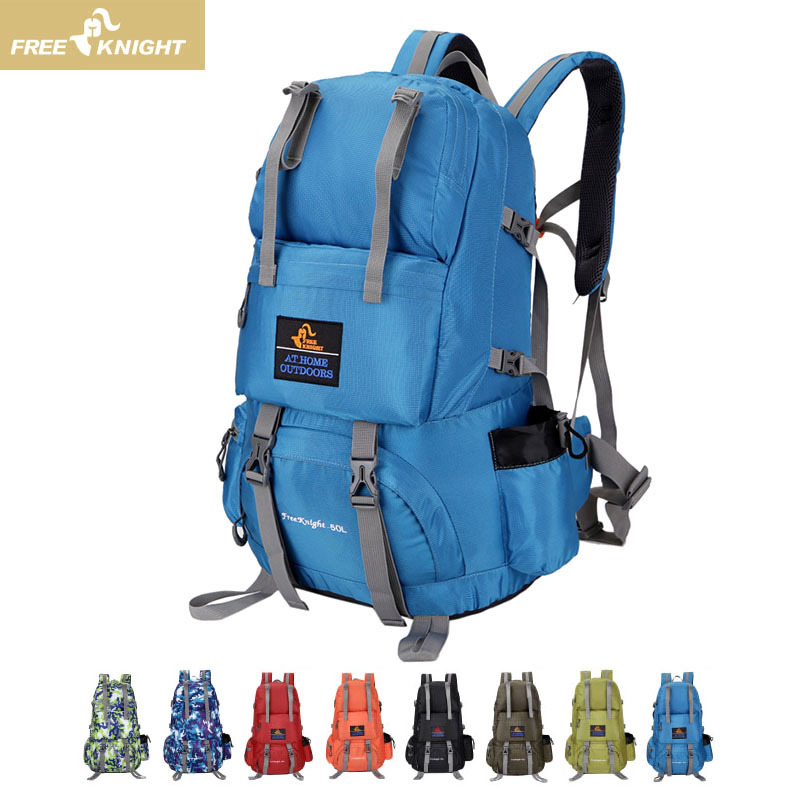 Free Knight 2017 Outdoor Backpack Men And Women Outdoor Bag Waterproof Lightweight Backpack Professional Mountain Travel Bag