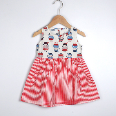 VIDMID baby girls summer short sleeve dresses cotton clothes folwers dresses kids girls casual dresses children clothing 7119 01 6