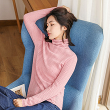 2019 High Quality Fashion Autumn Winter Sweater Women cashmere Turtleneck Pullovers Womens Solid Sweaters