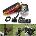 Новый для велосипедного велосипеда 3 в 1 велосипедный сигнал поворота тормозной Хвост 7 светодиодный светильник электрический рог