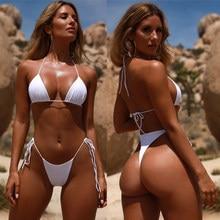 Microbikini brasileño de estilo brasileño para mujer, traje de baño Sexy con nalgas brasileñas, Bikini Sexy