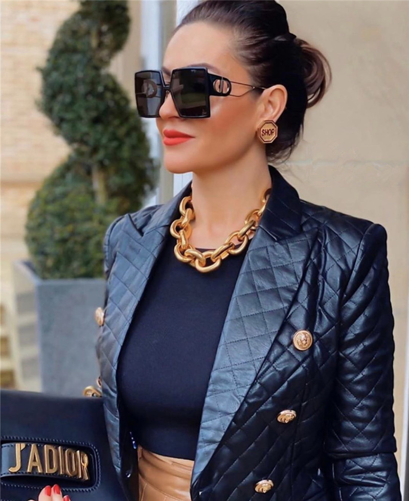 Luxury Brand Square Sunglasses Women Designer Vintage Sun Glasses For Women 2021 Trend Shades Cool Eyewear Female Gradient UV400 (8)