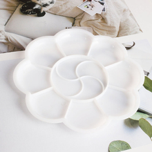 2x художника в форме цветка пластиковые паллетные краски палитры смешивания Искусство ремесло поставка набор
