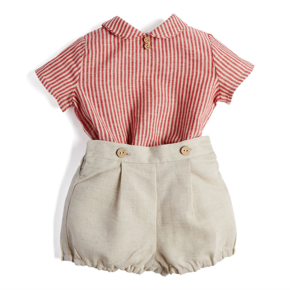 Baby-Boy-Clothes-Set-Children-Boutique-Clothing-Suit-Infant-Cotton-Shirt-Pants-Toddler-Boys-Spanish-Outfits