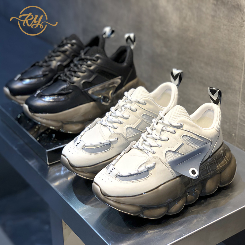RY-RELAA womens sneakers 2018 winter fashion Genuine Leather platform sneakers ins  luxury shoes women designers casual shoes