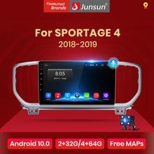 Junsun v1 android 10.0 ai controle de voz 4g carplay dsp rádio do carro multimídia gps navegador para kia sportage 4 2018 2019 2din dvd