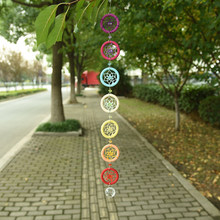 Jewelry Decoration Wall Art Pendant Great Shop House portable Home 18.5Inches Chakra Wall Hanging(China)
