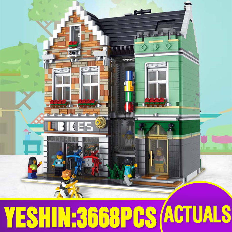 Lepining Street Building Toys Compaitble With 15034 Bike Shop Model Building Blocks Assembly Bricks Kits Kids Christmas Gifts