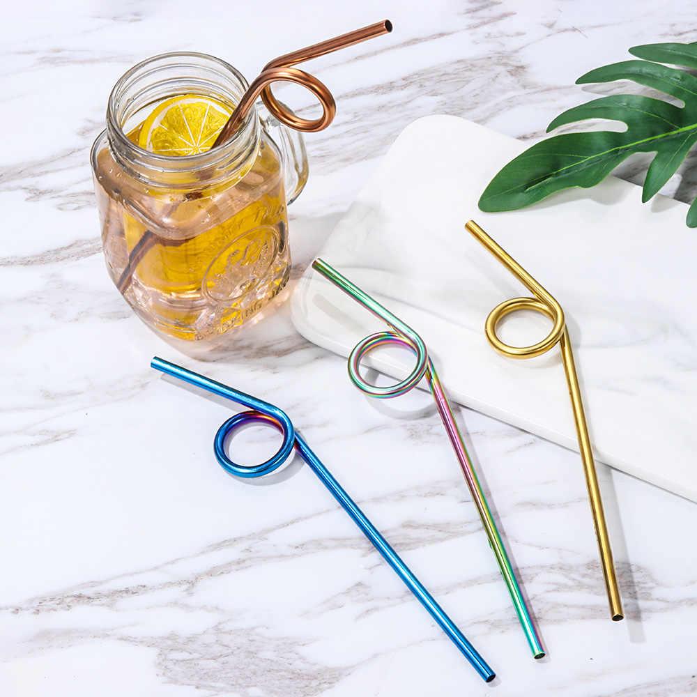 Reusable Barware Kitchen Supplies Metal Straw Drinking Straws Bar Accessories