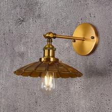 Nordic Gold LED Wall Sconce Industrial Wall Lamp vanity Light Loft E27 Bulb Iron Retro Home Deco Bedroom Desk Lighting Fixtures