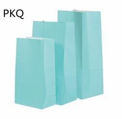 50pcs 13*8*24cm Kraft papier emballage cadeau pochette de qualité alimentaire emballage papier sac pour fête mariage faveur Biscuit sac - 5