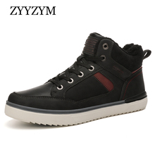 ZYYZYM Men Boots Autumn Winter Plush Keep Warm Snow Man 2019 Superior Quality British Fashion Non-slip