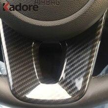 Couverture de protection de volant de voiture en Fiber de carbone pour Kia Forte K3 2019 2020 autocollant de garniture, accessoires d'intérieur Auto