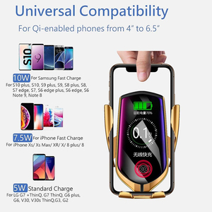 Image 5 - Qi Wireless Charger For iPhone 11 X Samsung Note 10 S10 Plus A70 A50 Wirless Car Charger Holder Chargeur Induction Fast Charging