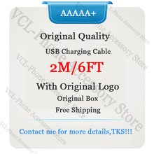 10pcs lot aaaaa quality aluminum mylar sync data cable 2m 6ft usb charging cable for foxconn phone with new packaging 10Pcs/lot AAAAA Quality Aluminum Mylar Sync Data Cable 2m/6ft USB Charging Cable for Foxconn Phone With New Packaging