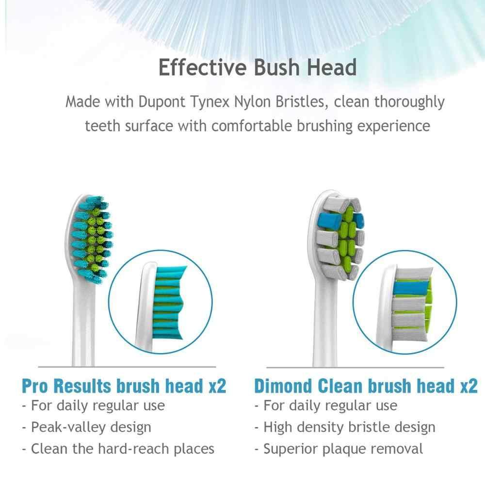 Cepillo de dientes eléctrico Lachen T8B para adultos, cepillo temporizador, cepillo eléctrico recargable USB para dientes con 4 piezas de cabezal de cepillo de repuesto