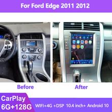 10 4 #8222 Tesla ekran samochodowy Radio multimedialny odtwarzacz wideo dla Ford Edge 2010 2011 Android 10 GPS Autoradio CARPLAY radioodtwarzacz Stereo tanie tanio NAVIRIDER CN (pochodzenie) podwójne złącze DIN 10 4 4*50 w 256G System operacyjny Android 10 0 JPEG frame+glass+metal