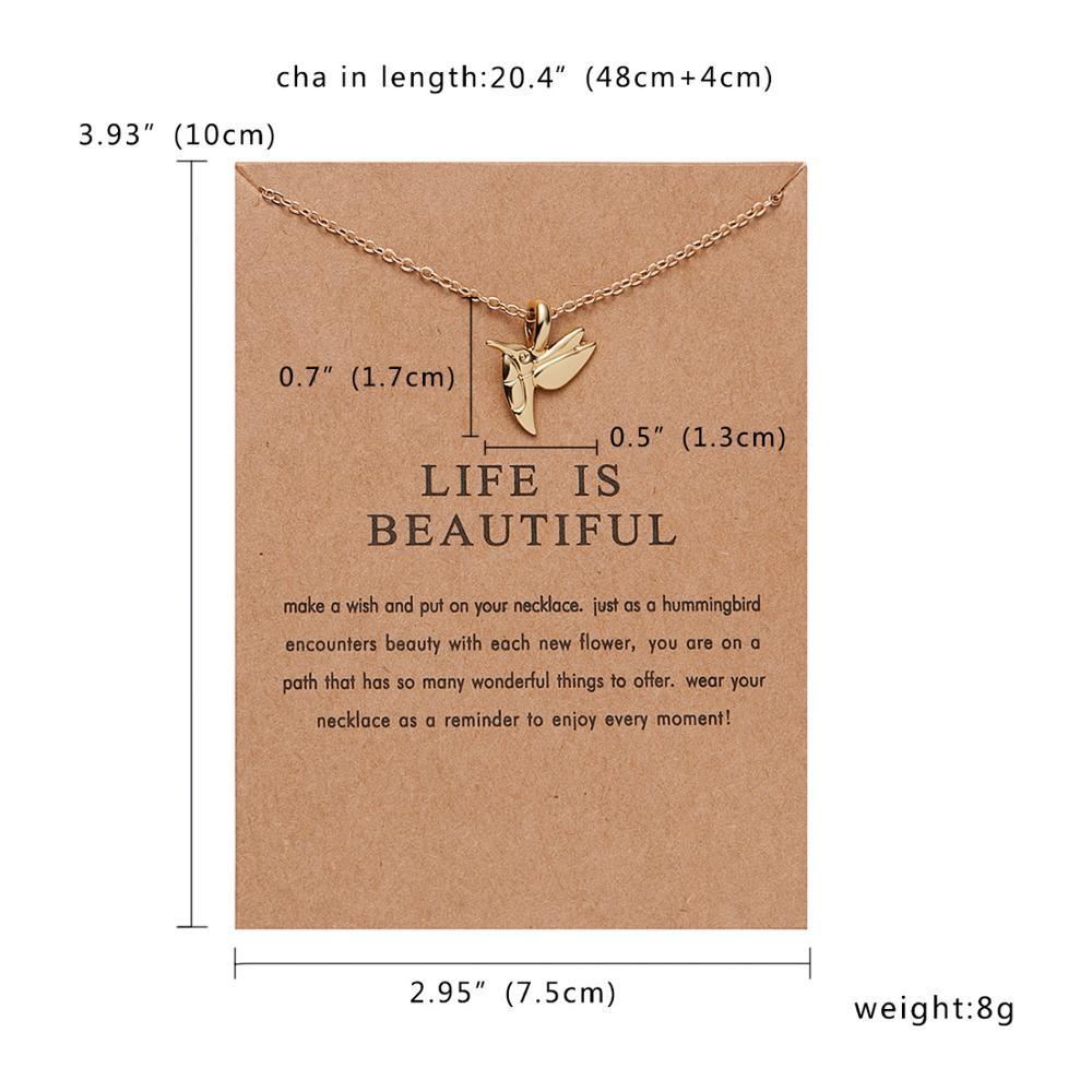Rinhoo бабочка слон жемчуг любви золотого цвета Кулон ожерелье s цепочки на ключицы ожерелье модное ожерелье женские ювелирные изделия - Окраска металла: NC18Y0302