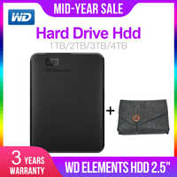 Western Digital WD Elements 2.5 Portable 1 to 2 to 3 to 4 to USB3.0 Disque dur externe Hdd Disco Duro Externo Disque Portable