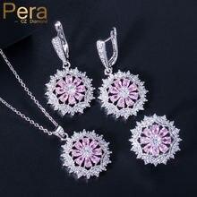 Pera сладкий Снежинка форма розовый сапфир кристалл Топаз набор