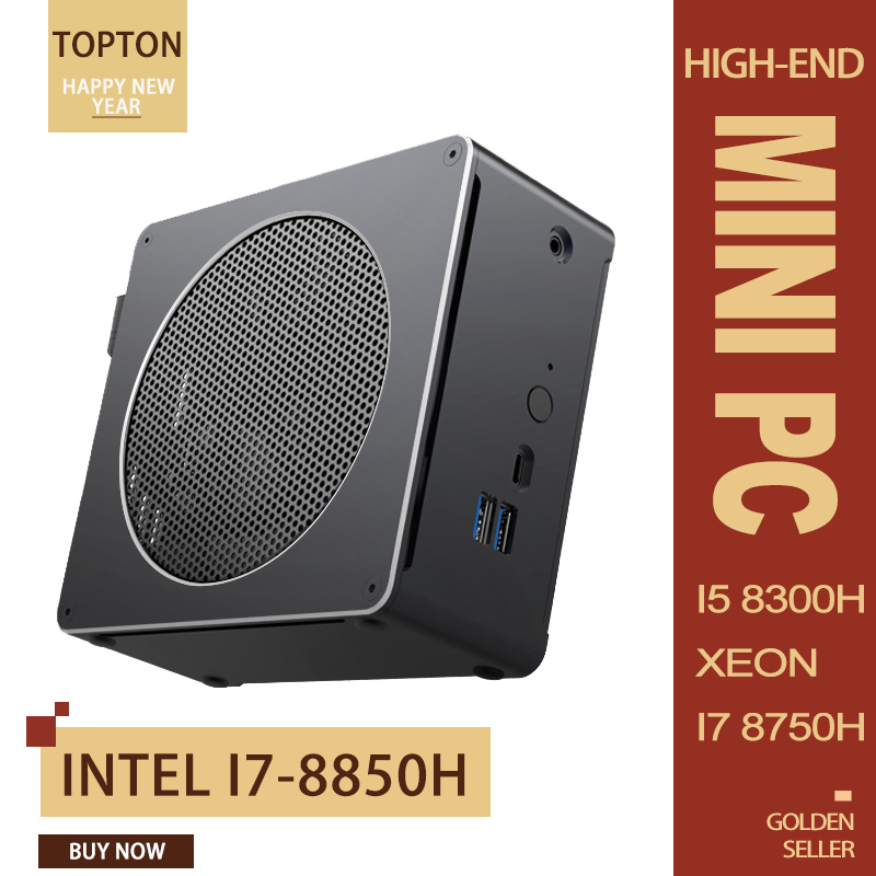 Mini PC Intel I7-8850H Intel®UHD Graphics 630 Mini Computer,Windows 10 64-bit, 2*DDR4 Slot/4K Display/AC Wifi/BT 5.0/ Ethernet