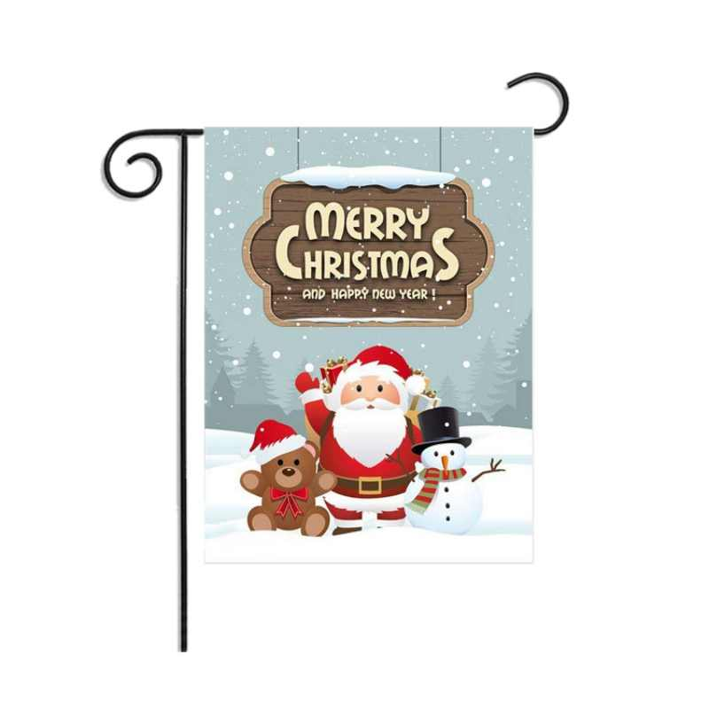 Christmas Series Garden Flag Outside Decorative Hanging Winter Seasonal Holiday Yard Decorations