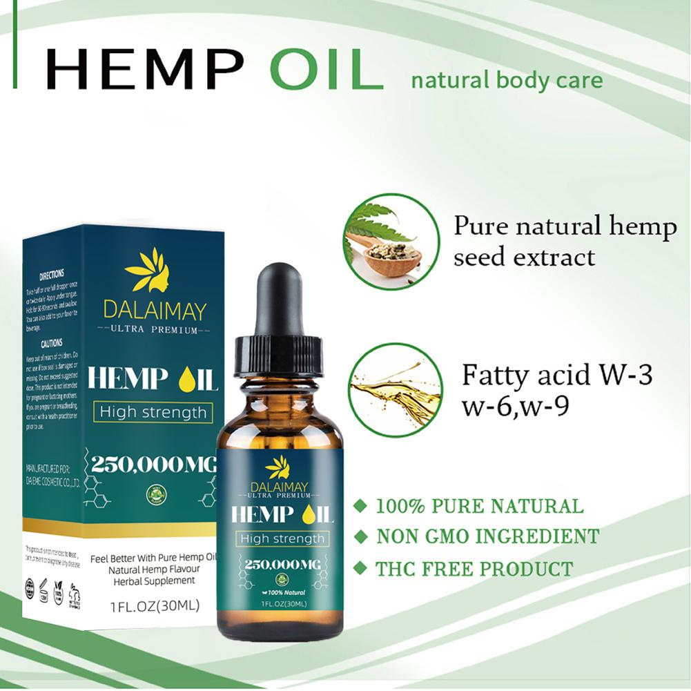 Natural Organic Hemp Seed Oil Essential Oil Extract For Anxiety & Stress Relief Improve Sleep Soothing Fatigue Body Massage Oil-4