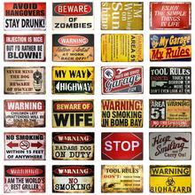 Ser ware de la carretera signo vintage Barra de señal de metal carteles garaje decoración de la cueva de hombre signo