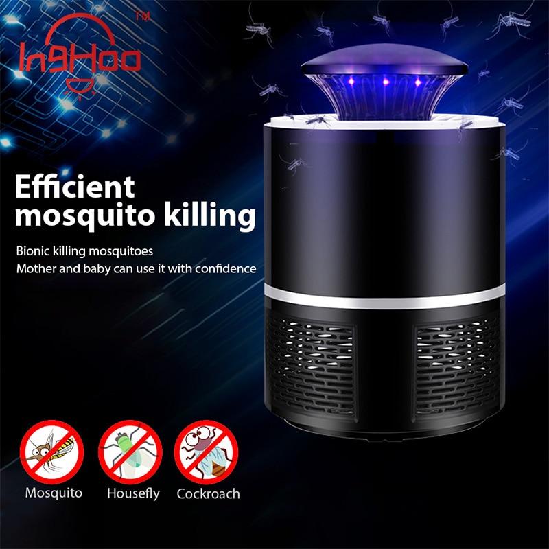 IngHoo della Zanzara dell'assassino della Zanzara Lampada di alimentazione USB Fotocatalisi Mute Radiativa Insect killer Mosche trappola lampada Adatto per il bambino