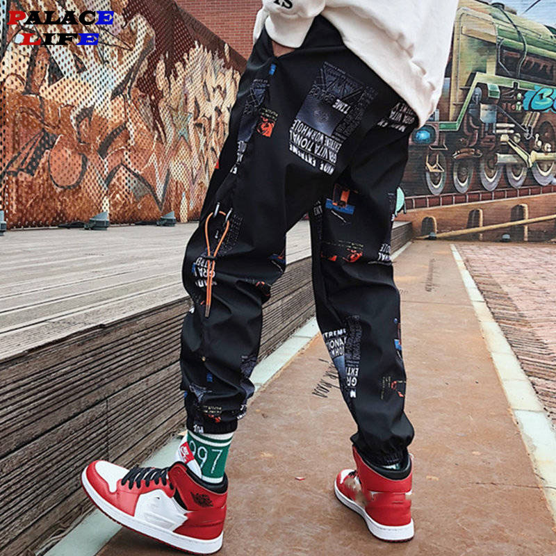 Hip Hop Pants Men Loose Joggers Print Streetwear Harem Pants Big Size S-3XL Casual Harajuku Funny Print Ankle Length Trousers