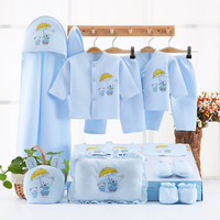 15 Piece Newborn Baby Set Boy Clothes 100% Cotton Infant Suit Baby Girl Clothes Outfits Pants Baby Clothing Hat Bib Ropa De Bebe