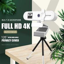 Webcam 4k 2K Full HD Mini Camera Webcam Autofocus Zoom 120° Live Streaming Widescreen Webcam Office Conferencing PC Camera 4 K