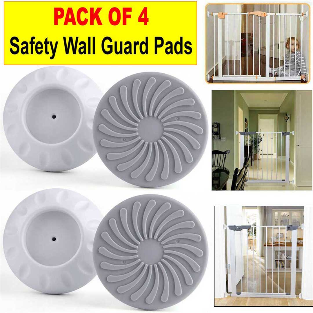4Pcs Baby Pet Safety Door Stair Gates Wall Mount Cups Bumpers Guard Protectors Safety Gates Bumpers,Baby Safety Door Bumpers