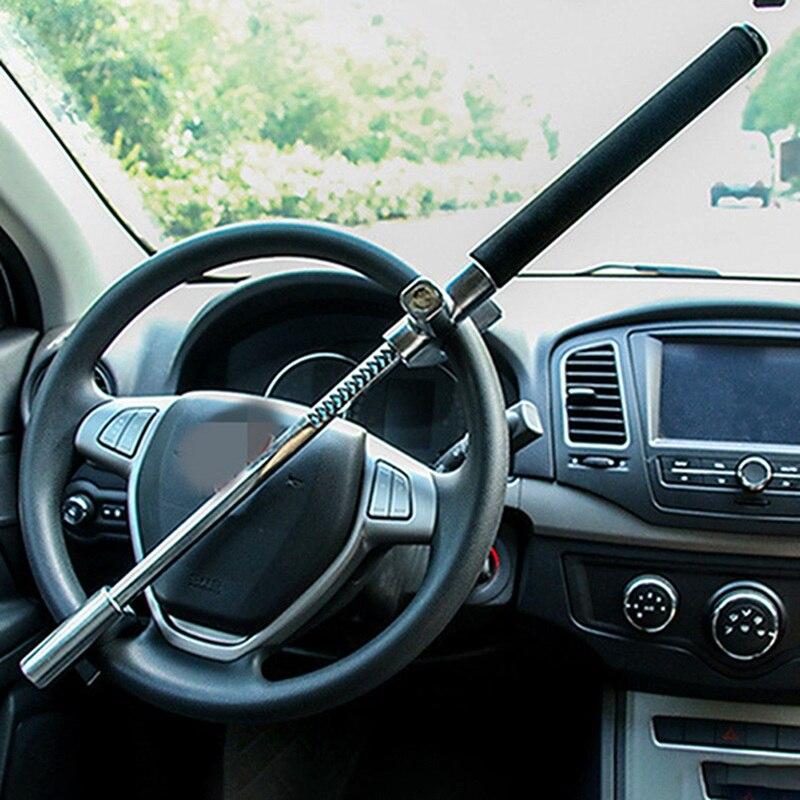 Универсальный Автомобильный Замок безопасности выдвижной u-образный замок рулевого колеса автомобиля дверь рулевого колеса складной
