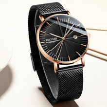 Ultra-thin dial Watch Men Fashion Sport Quartz Clock Mens Watches Brand Luxury Leather Waterproof Calendar Watch erkek kol saati kanishi luxury women watches ultra thin pu leather band sport analog quartz wrist watch allog dial clock ladies watch fashion