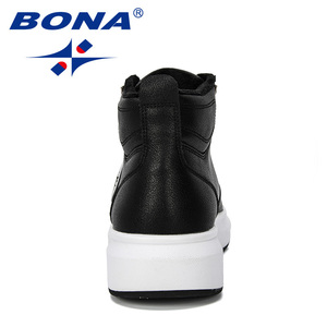 Image 2 - BONA 2019 New Designer Outdoor Sneaker Men Lace Up Casual Footwear Man Fashionable Comfortable Vulcanize Shoes Male High  Top