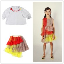 Ins stock Raspberry Plum Girls Dresses Summer Toddler Girl Dresses Princess Dresses Christmas Dresses New Year cheap COTTON Polyester Mid-Calf Crew Neck REGULAR Short Novelty Fits true to size take your normal size Draped RAY2020050800001