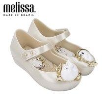 Mini melissa ultrasirl + beleza e a besta menina geléia sapatos sandálias 2020 novos sapatos de bebê melissa sandálias para crianças zandalias