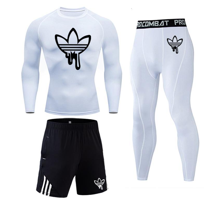 High Quality Compression Mens Sport Suits Quick Dry Running Sets Clothes Sports Joggers Training Gym Fitness MMA Tracksuits Male