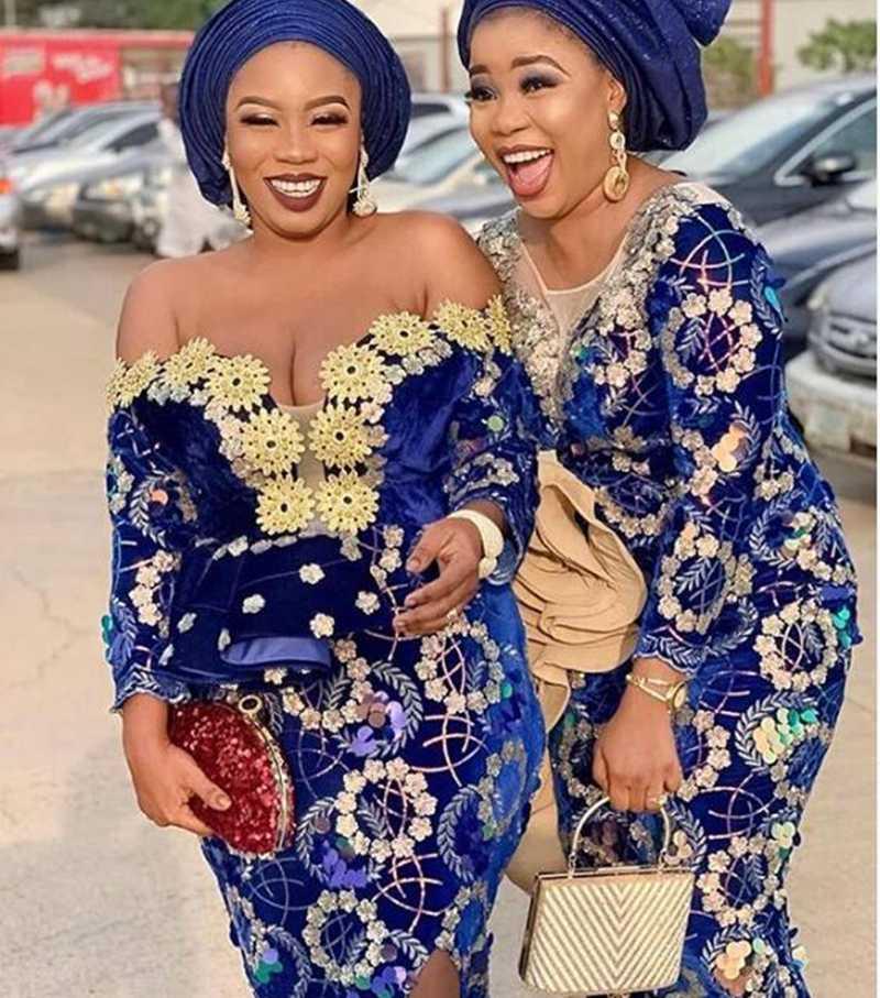 קטיפה אפריקאית תחרה בד עם פאייטים ניגרי צרפתית קטיפה תחרה בד באיכות גבוהה נצנצים קטיפה לחתונה שמלת A1753