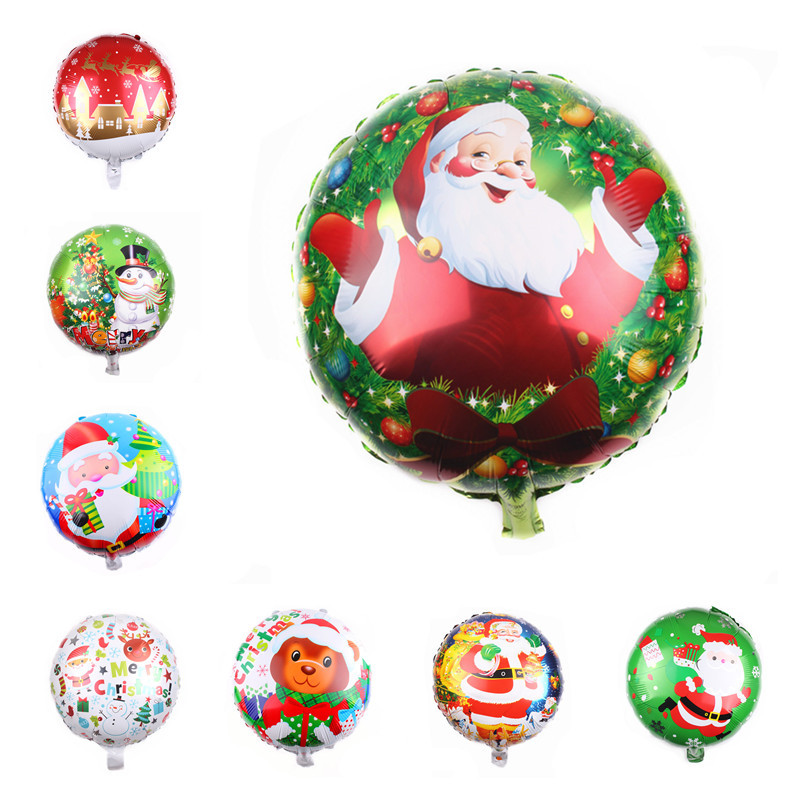 10 шт./лот 18 дюймов рождественские Круглые фольгированные воздушные шары вечерние украшения для дня рождения Детские вечерние воздушные шар...
