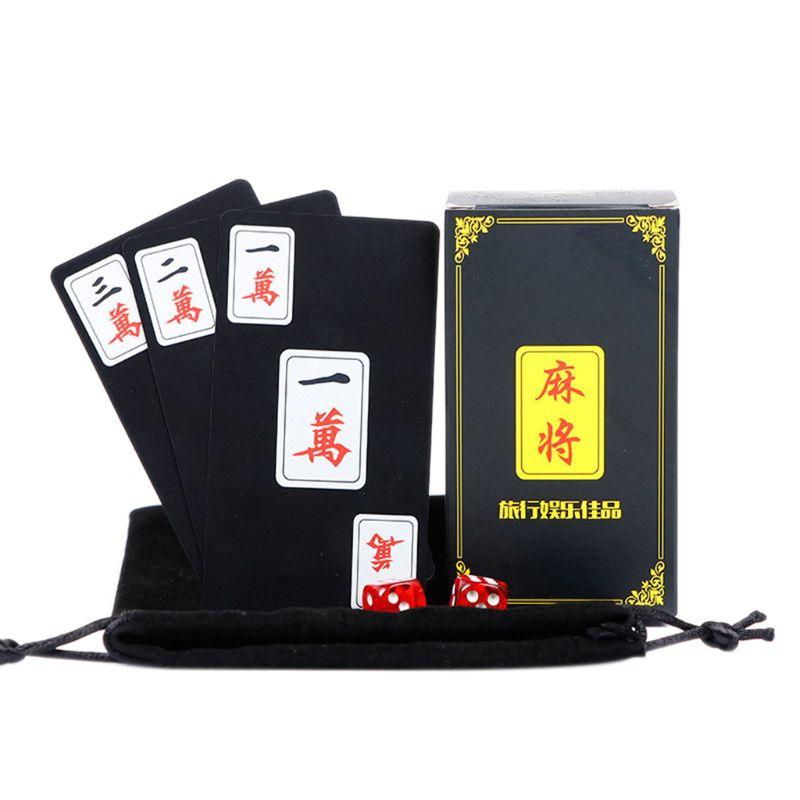 Mahjong tradicional chinês jogando cartas impermeável pvc plástico mahjong poker