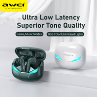 AWEI 무선 헤드폰베이스 방수 TWS 블루투스 헤드셋 스포츠 마이크 핸즈프리 이어폰 전화 게임 T35